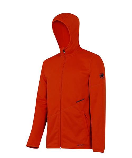 Mammut Get Away Hooded Jacket, Männer, € 120,- dünnes warmes Polartec Fleece zum Wohlfühlen
