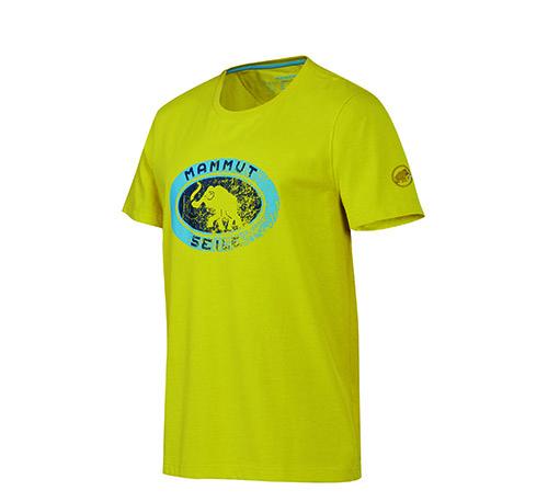 Mammut Seile T-Shirt, € 40,- mit dem alten Mammut Seilfabrik-Logo aus den 60er Jahren