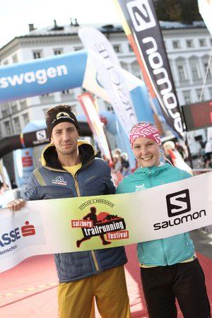 Die beiden Gesamtsieger: Stefan Linseder und Sandra Koblmüller