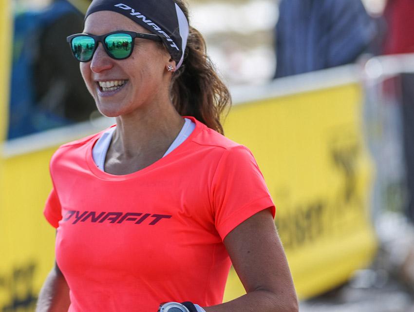 Veronika Limberger - die strahlende Siegerin des Schneeberglaufs