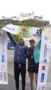 Robert Berger und Emmiliese Von Clemm: Gesamtsieger beim Trail Amadeus 37+