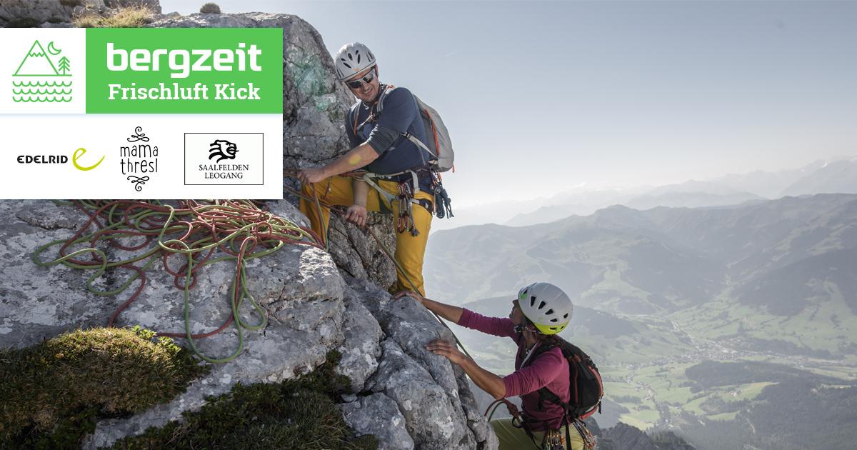 Klettersteigset Bergzeit : Gewinne ein kletter & klettersteig abenteuer mit Übernachtung im