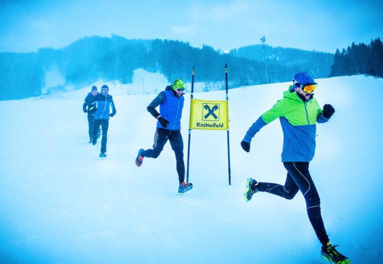 Snowtrail Downhill Rennen im Winter
